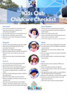 childcare-checklist
