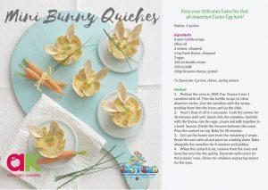 Mini Bunny quiches
