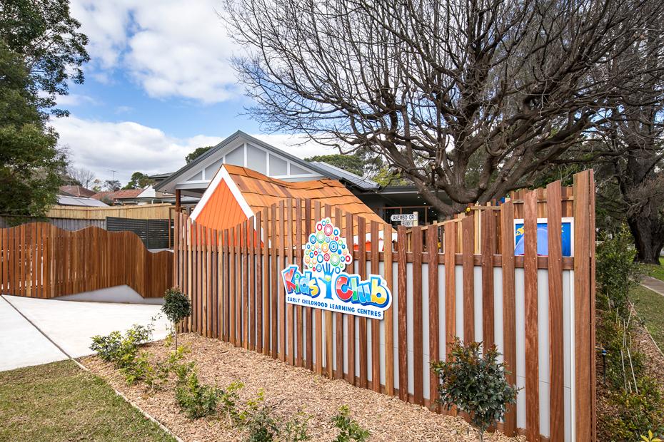 the outside fence at kids club killara